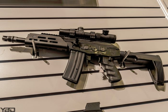 This is a project from IWI and Krebs Custom which is a 9x39 Galil.