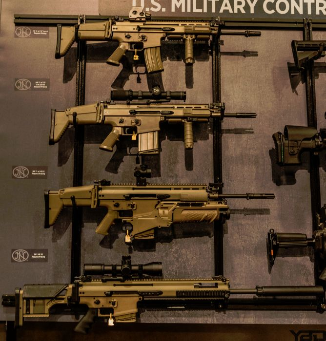 The SCAR Family. From top to bottom: MK16, MK17, MK17 with a MK13 grenade launcher, and the new MK20.