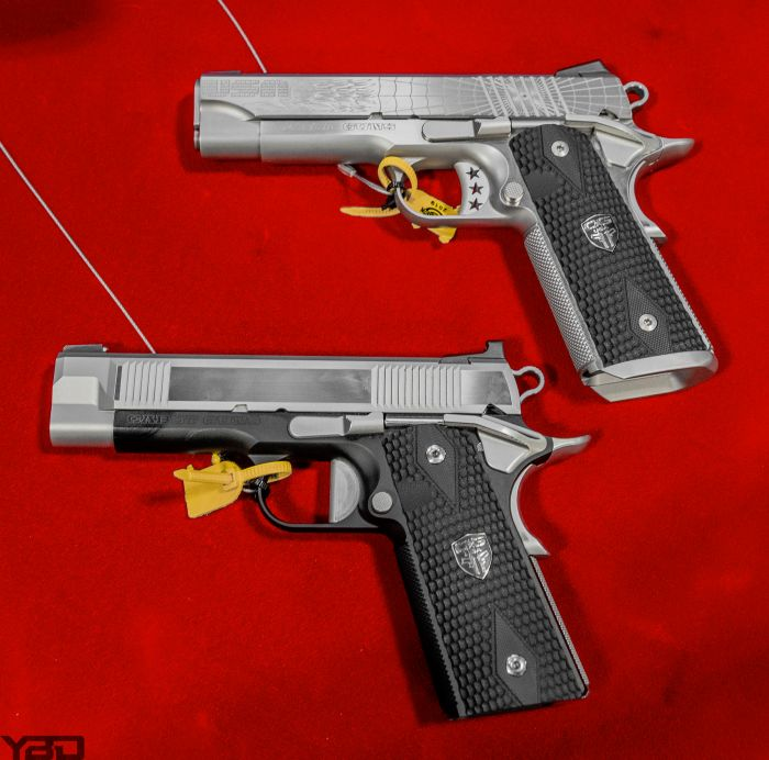 Only the best! A couple of Cabot Gun's 1911s.