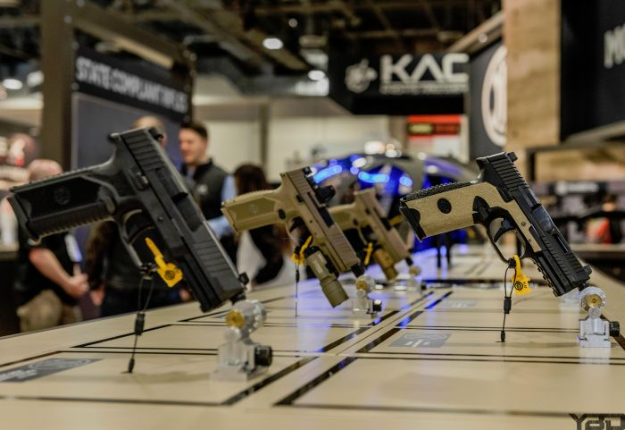 A whole bunch FN509 pistols at the FN booth.