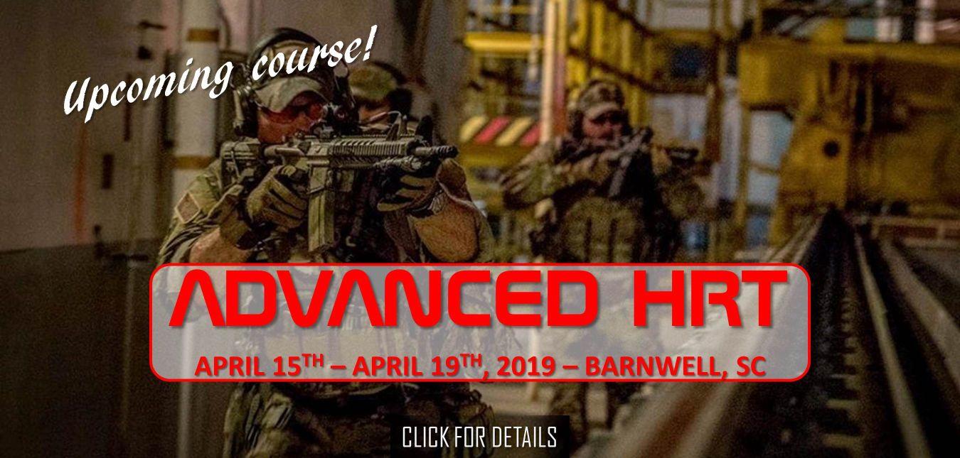 Advanced Hostage Rescue Tactics April 15-19 2019